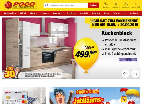 POCO Online Shop Gutschein einlösen