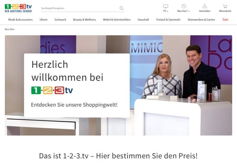 1-2-3 TV Onlineshop günstig einkaufen