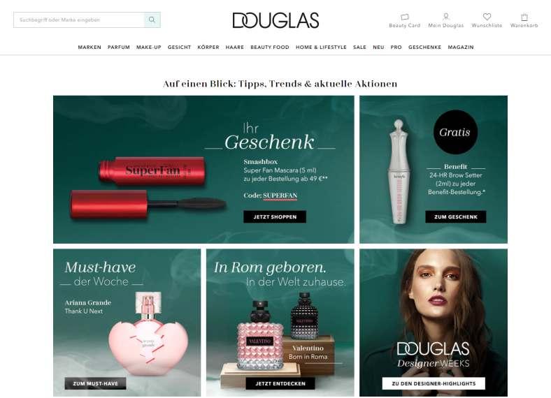 15% Rabatt im Douglas Onlineshop