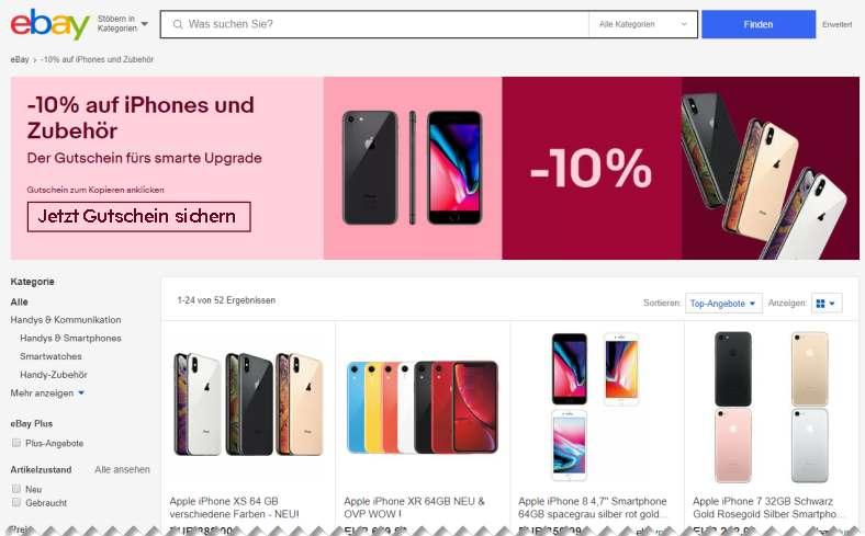 Ebay 10% auf iphone