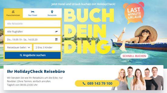 HolidayCheck Reisebüro