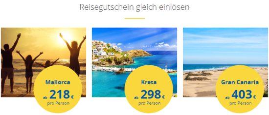 Reisegutschein bei HolidayCheck einlösen