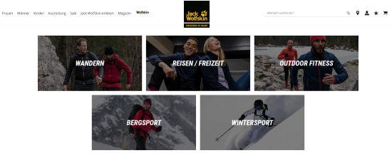 Jack Wolfskin Onlineshop - Winterjacken online kaufen