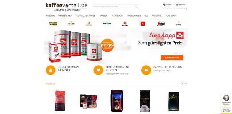 Kaffee Online-Shop