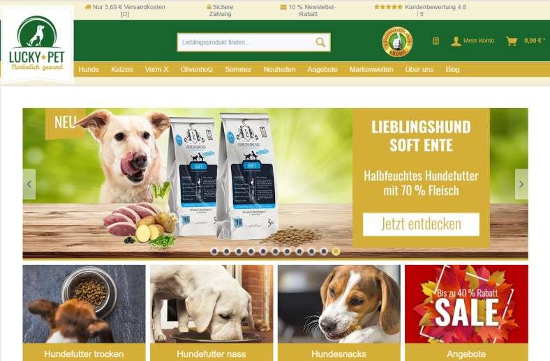 Hundefutter im Luck-Pet Shop
