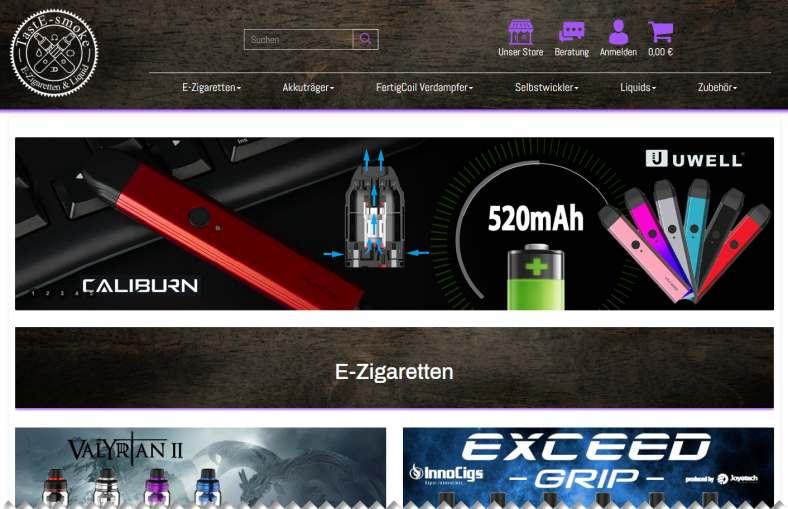 Online-Shop für Profi-Dampfer
