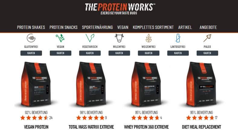 Sportnahrung im The Protein Works Onlineshop