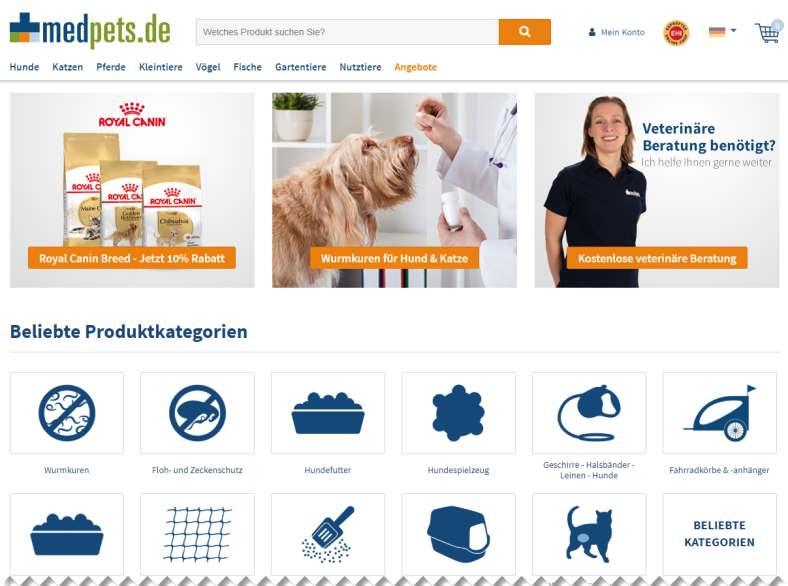 Online-Tierapotheke medpets