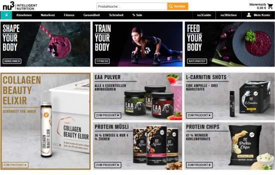 MyProtein & Whey im nu3 Online-Shop