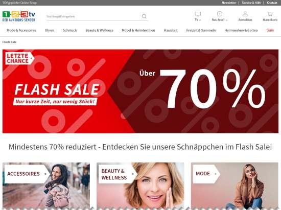 1-2-3.tv Lagerverkauf im Flash-Sale