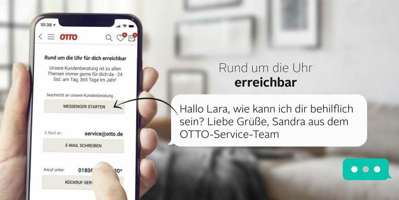 Kundenservice direkt über die App kontaktieren