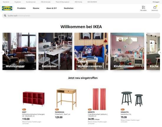 Möbel Onlineshop von IKEA