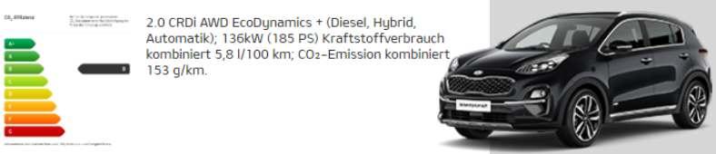 Wie sparsam ist der Kia Sportage Mild-Hybrid