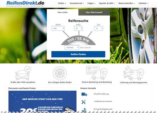 Reifen online mit Montage