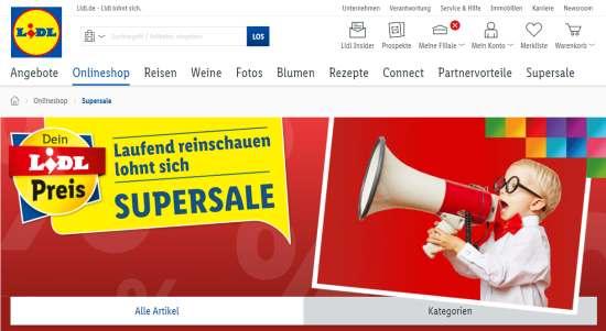 Lidl-Supersale Gutschein