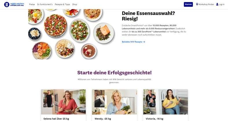 Weight-Watchers online buchen