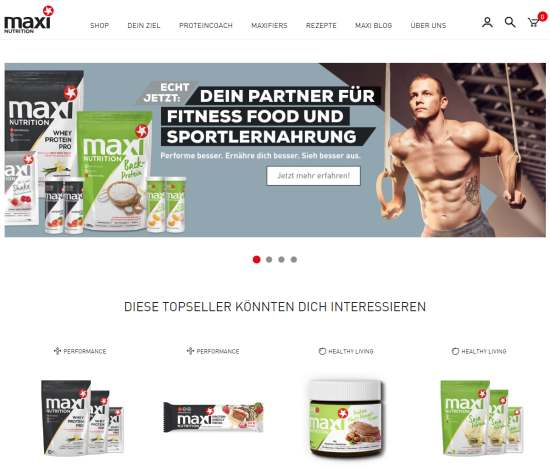 MaxiNutrition Online-Shop