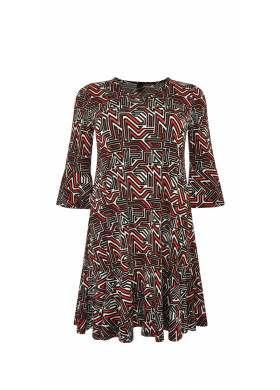 Plus-Size Kleid GRAPHIC