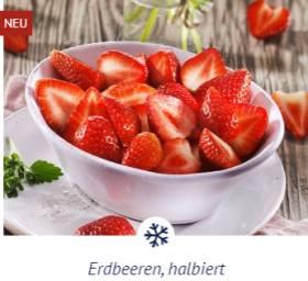 Erdbeeren halbiert