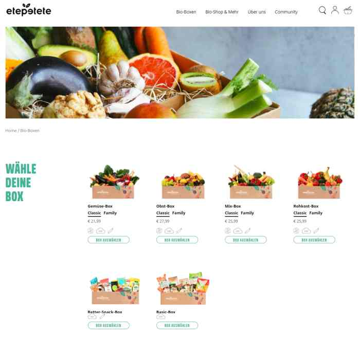 etepetete Online-Shop