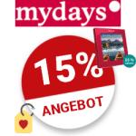 15% mydays Rabattcode