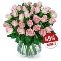 49% Rabatt auf 35 roséfarbene Rosen – Blumenversand